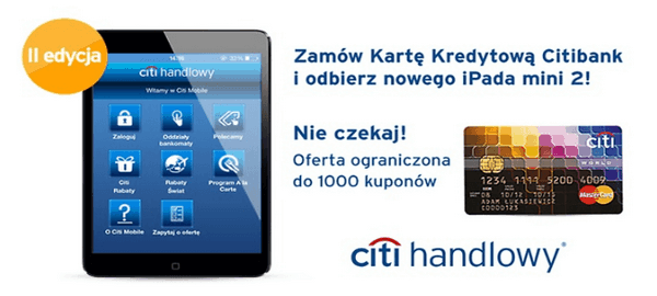 Citibank iPad mini karta kredytowa