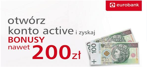 Eurobank bonus 200 zł
